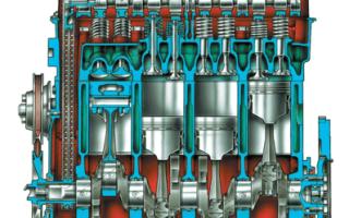 Двигатель автомобиля ВАЗ 2107