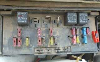 Блок предохранителей ВАЗ 2107 инжектор