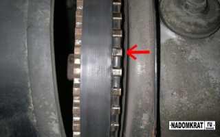 Замена ремня ГРМ на 8 клапанном двигателе ВАЗ 2114