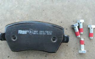 Как заменить тормозные колодки на Ладе Ларгус