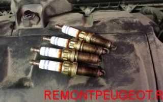 Замена свечей зажигания на автомобиле Пежо 308, 408 и 3008