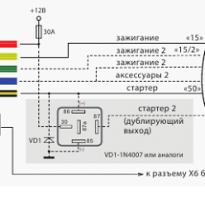 Автозапуск двигателя схема подключения