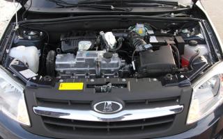 Двигатель автомобиля Лада Гранта
