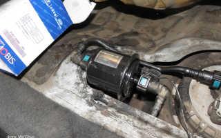 Замена топливного фильтра и сетки бензонасоса