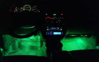 Делаем подсветку ног в машине своими руками