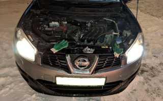 Замена ламп Nissan Qashqai 1G своими руками