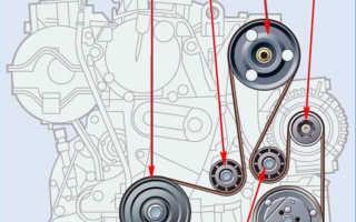 Двигатель d4f 732 ремень кондера схема