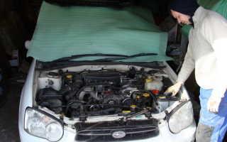 Самостоятельная замена ремня ГРМ EJ-15 на Subaru Impreza