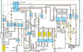 Электрическая схема управления двигателем тойота
