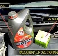 Замена масла двигателя Лада Калина
