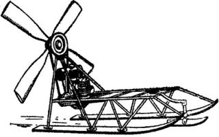 Аэросани с автомобильным двигателем своими руками
