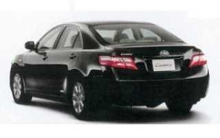 Седан Toyota Camry: расход топлива